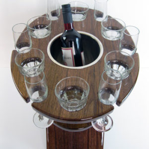 Deluxe Twelve Glass Champagne Tables