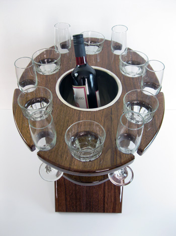 12 Glass Deluxe Champagne Table