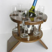 Compact Six Glass Table