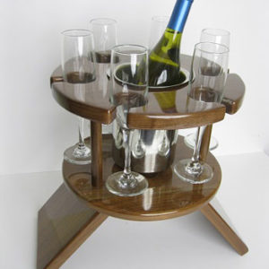 Compact Six Glass Table