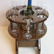 Portable Six Glass Table