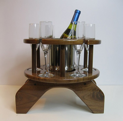 Six Glass Champagne Table