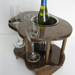 Two Glass Table - Walnut