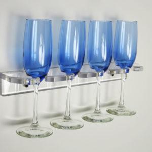 four glass acrylic drink rack
