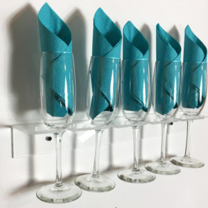 Flute glass holder chamgane wall