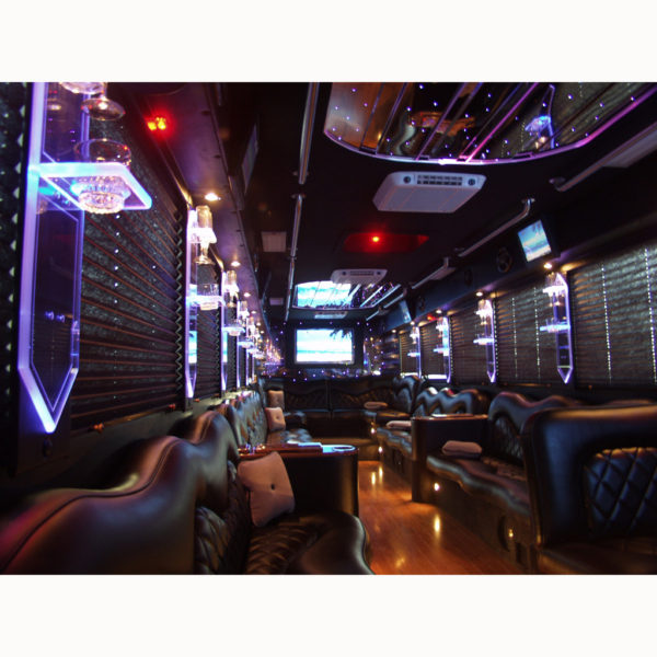 Great for party bus or even bar. Acrylic is back lighted creating a beautiful effect