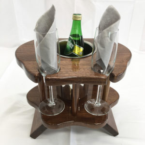 Table for wine glasses sedan