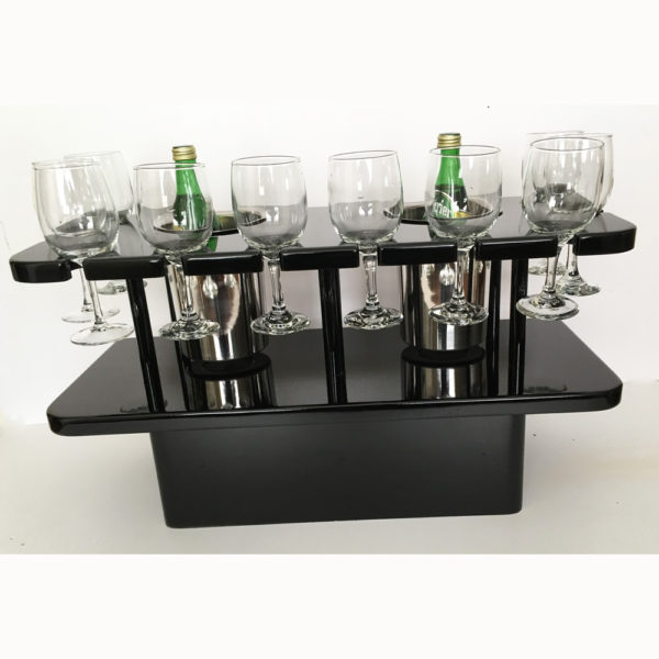 wine glass or flute glass storage table