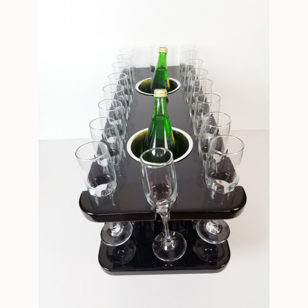 Stemware glass storage table great for busses