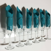 Six Glass Acrylic Flute Glass Holder